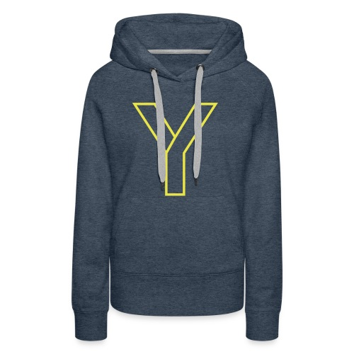 ChangeMy.Company Y Yellow - Frauen Premium Hoodie