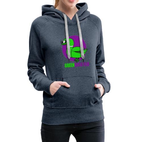 Greenduck Film Purple Sun Logo - Dame Premium hættetrøje