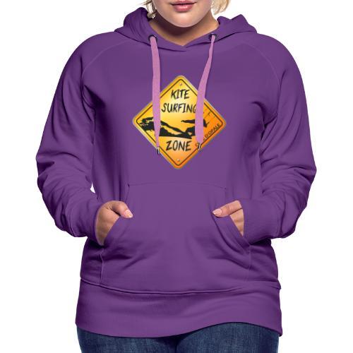 KITESURFING ZONE CÔTE D'OPALE - Sweat-shirt à capuche Premium pour femmes