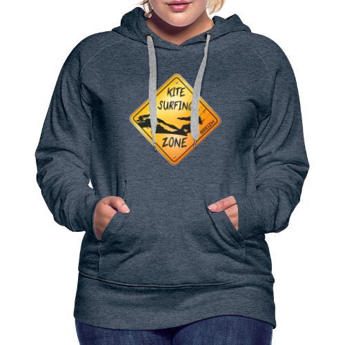 KITESURFING ZONE BREIZH - Sweat-shirt à capuche Premium pour femmes