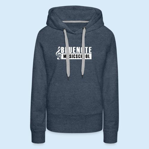 Bluenote Musicschool Logo Weiss/Schwarz - Frauen Premium Hoodie