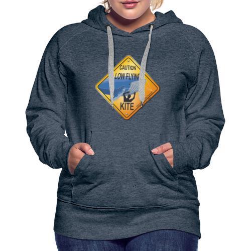 Roadsign Attention cerf-volant à basse altitude - Sweat-shirt à capuche Premium pour femmes