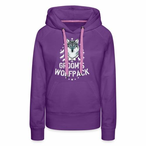 164 Wolf JGA GROOM'S Wolfpack - Frauen Premium Hoodie