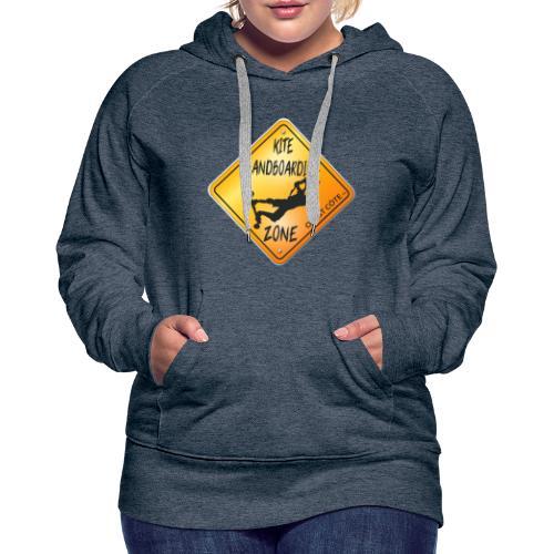 KITE LANDBOARDING ZONE OUEST CÔTE - Sweat-shirt à capuche Premium pour femmes