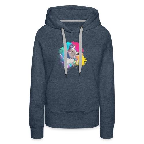 Colorful Llama - Dame Premium hættetrøje