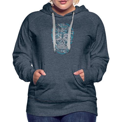 electric skull tshirt ✅ - Frauen Premium Hoodie