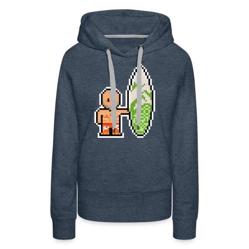 Surfeur - Sweat-shirt à capuche Premium pour femmes