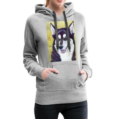 Siberian husky - Dame Premium hættetrøje