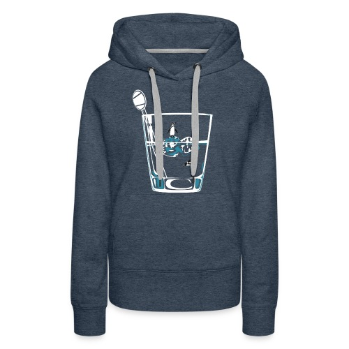 Penguins on the rocks - Women's Premium Hoodie