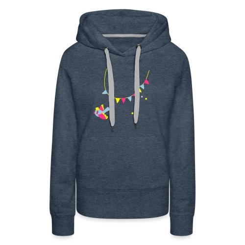 Spatz # Affentanz # bunt - Frauen Premium Hoodie