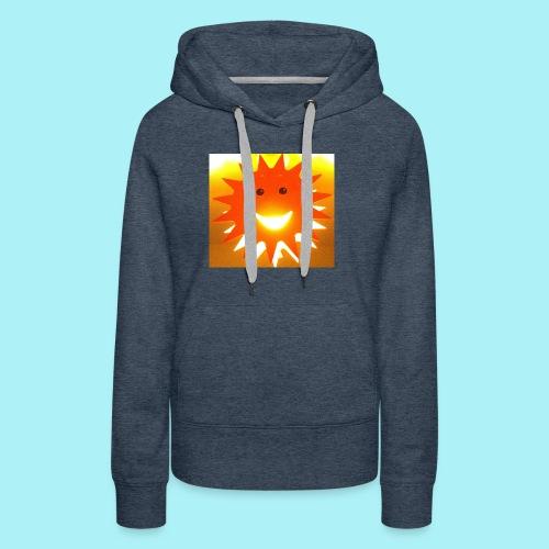 Soleil Souriant - Sweat-shirt à capuche Premium pour femmes