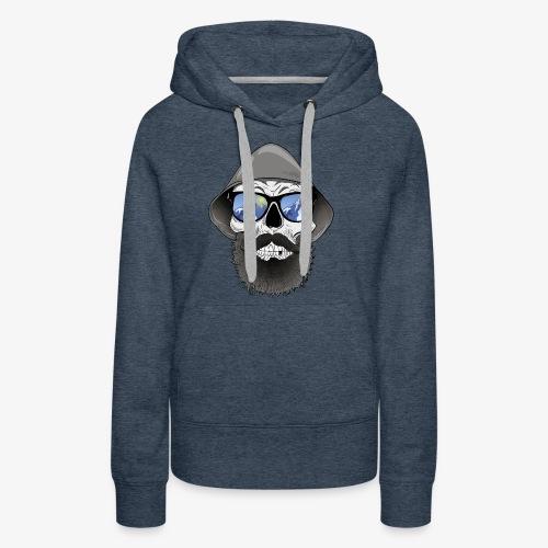 Totenkopf mit sonnenbrille und hut - Frauen Premium Hoodie