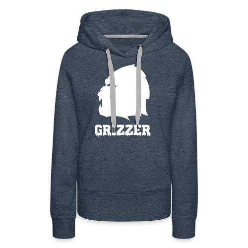 GRIZZER BLANC - Sweat-shirt à capuche Premium pour femmes