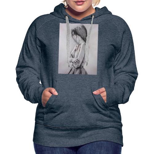 Dame portret - Frauen Premium Hoodie