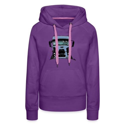0812 F truck blue - Vrouwen Premium hoodie