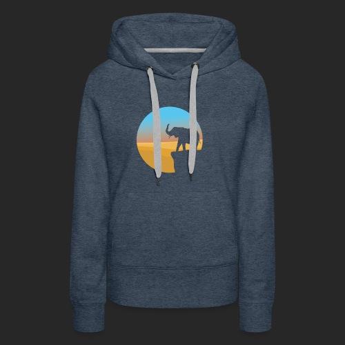 Sunset Elephant - Women's Premium Hoodie