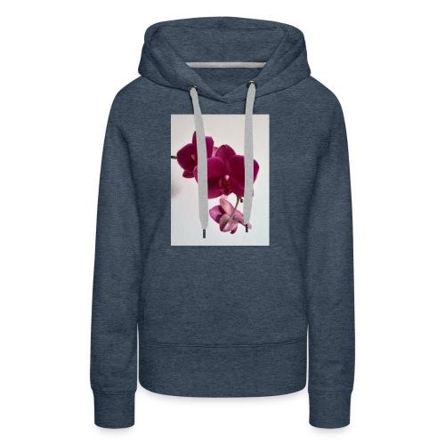 Orchideen lila - Frauen Premium Hoodie