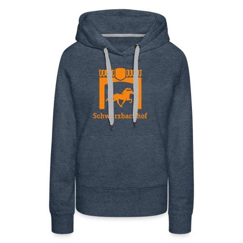 Logo Schwarzbachhof Orange - Frauen Premium Hoodie