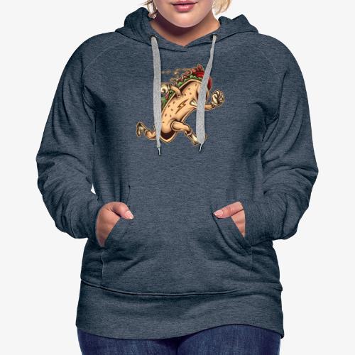 Hot Dog Héros - Sweat-shirt à capuche Premium pour femmes