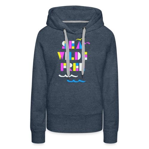 Sea wilde free Craft pattern - Frauen Premium Hoodie