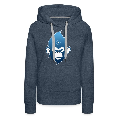 monkeyZ degrade bleu - Sweat-shirt à capuche Premium pour femmes