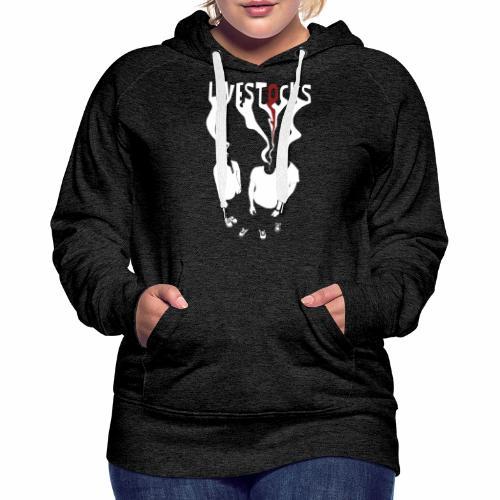 T-shirt livestocks ghost - Sweat-shirt à capuche Premium pour femmes