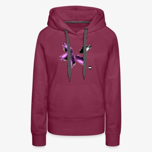 Sembran petali ma è l'aurora boreale - Felpa con cappuccio premium da donna