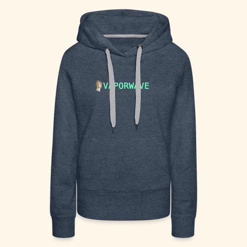 Roman Statue Vaporwave - Sweat-shirt à capuche Premium pour femmes