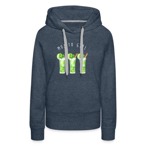mojito girl - Sweat-shirt à capuche Premium pour femmes