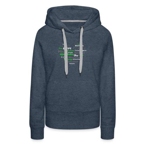 hart met tekst groot.png - Vrouwen Premium hoodie