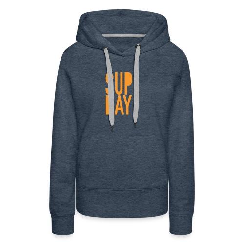 supday_apparel_orange - Vrouwen Premium hoodie