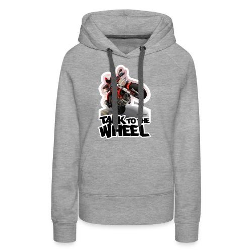 Ducati Monster Wheelie B - Sudadera con capucha premium para mujer