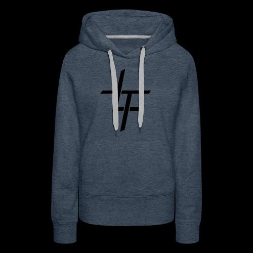TL noir classique - Sweat-shirt à capuche Premium pour femmes