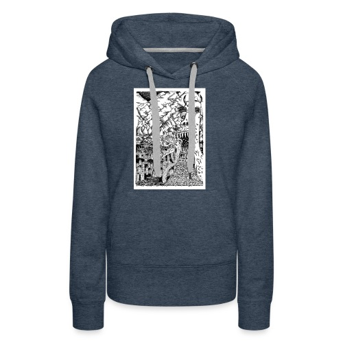Sea Monsters T-Shirt by Backhouse - Women's Premium Hoodie