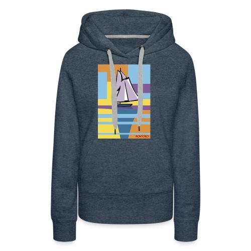 Au large, aube - Sweat-shirt à capuche Premium pour femmes