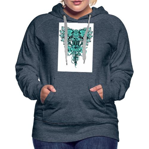 tee template426 - Sweat-shirt à capuche Premium pour femmes