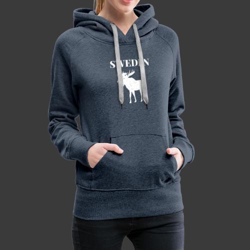 Sweden Moose Sverige - Frauen Premium Hoodie