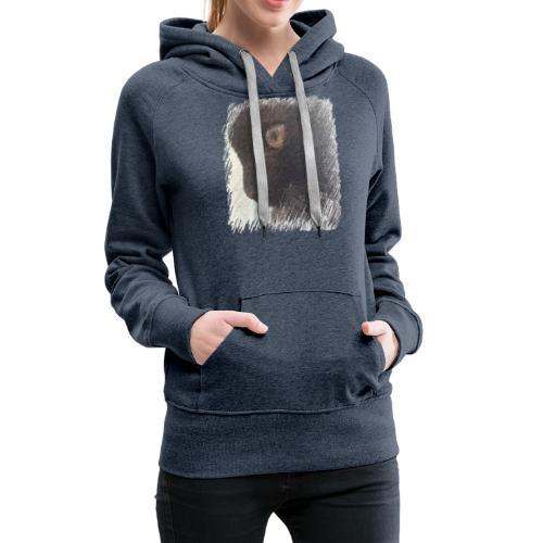 chat - Sweat-shirt à capuche Premium pour femmes
