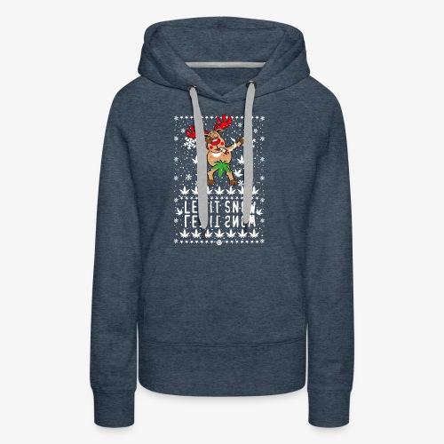 238 Hirsch Rudolph Dabbing Let it Snow Hanf - Frauen Premium Hoodie