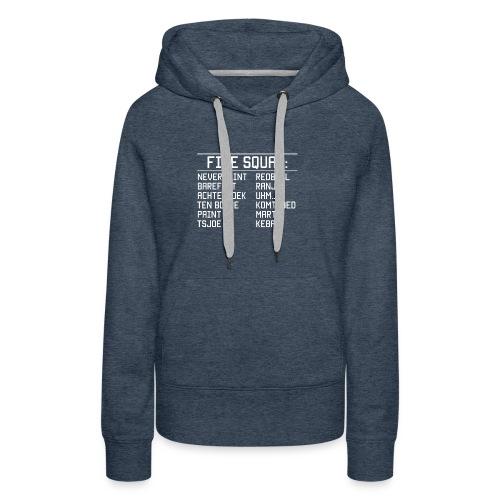 8DArmyTekst v001 - Vrouwen Premium hoodie