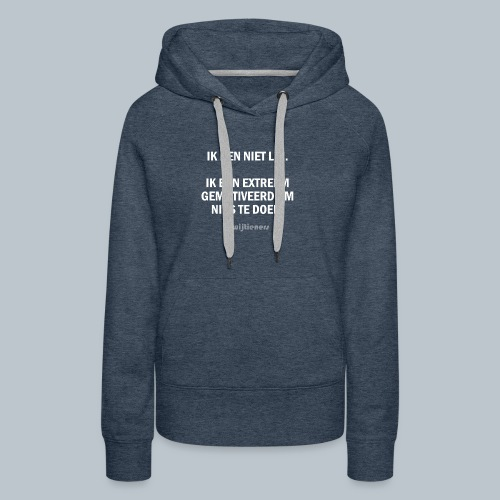 SHIRT 1 ~ Instagram @wijtieners - Vrouwen Premium hoodie