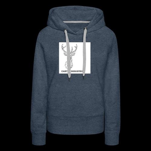 Cerf - Sweat-shirt à capuche Premium pour femmes