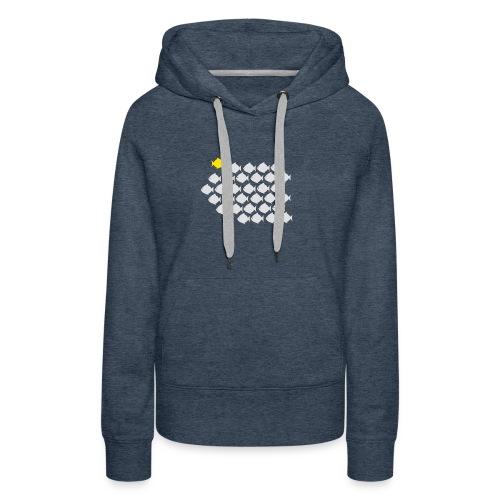 Verandervis - durf anders te zijn - Vrouwen Premium hoodie