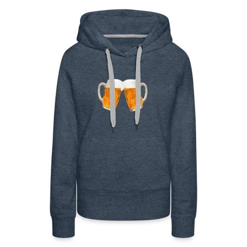 Zwei Bier - Frauen Premium Hoodie