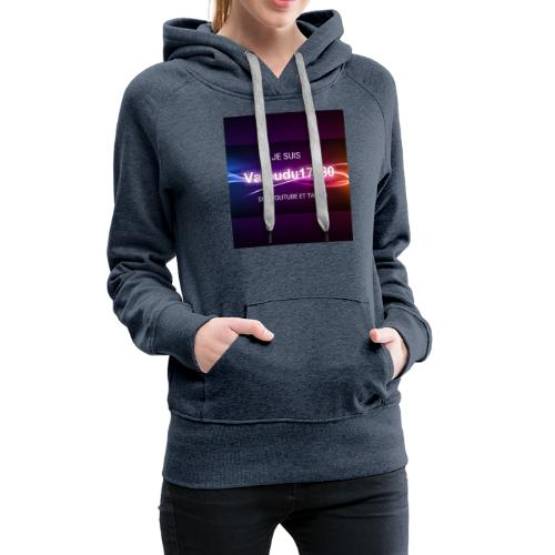 Valoudu17180twitch - Sweat-shirt à capuche Premium pour femmes