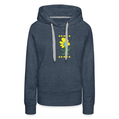 Gelbe Blume - Frauen Premium Hoodie