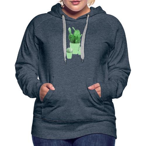 CACTUS AQUARELLE - Sweat-shirt à capuche Premium pour femmes