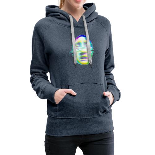 visage glitch - Sweat-shirt à capuche Premium pour femmes