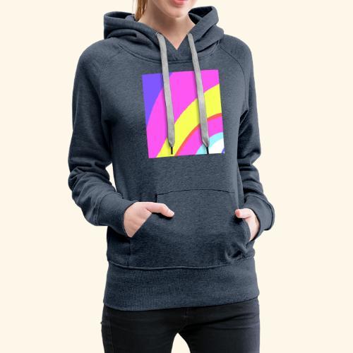 Curva colorata - Felpa con cappuccio premium da donna