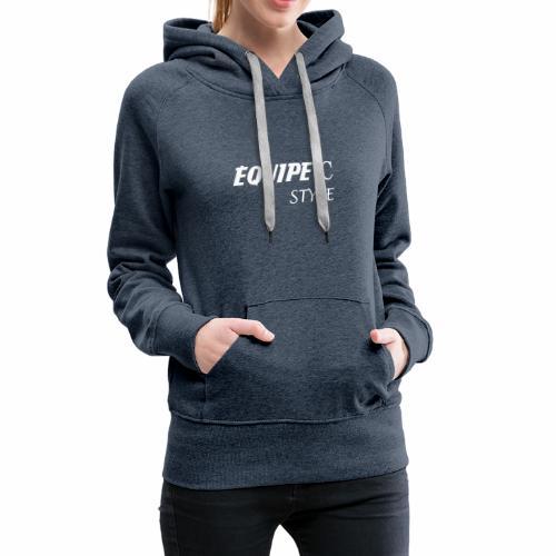 EQUIPE C blanc - Sweat-shirt à capuche Premium pour femmes